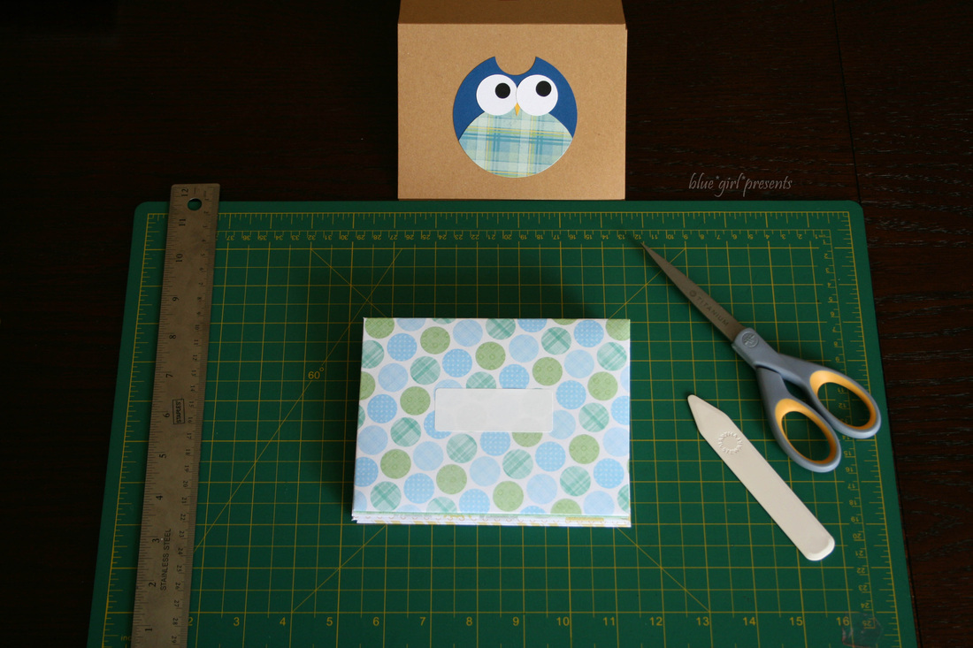 blue girl presents: scrapbook paper envelopes
