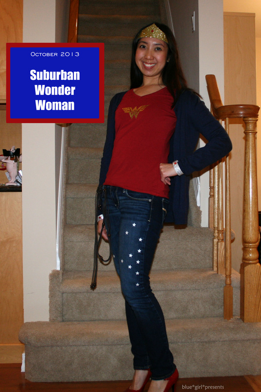 blue girl presents: Suburban Wonder Woman Costume