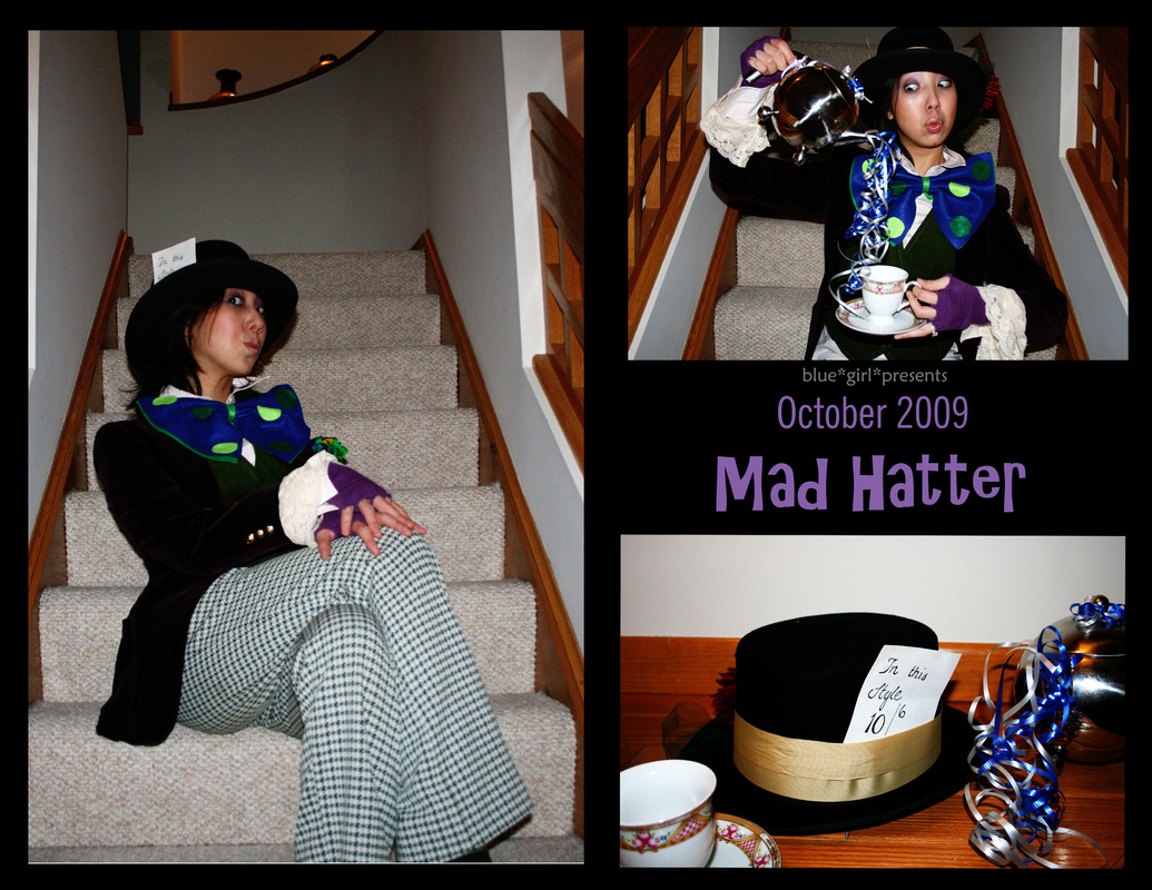 blue girl presents: mad hatter costume