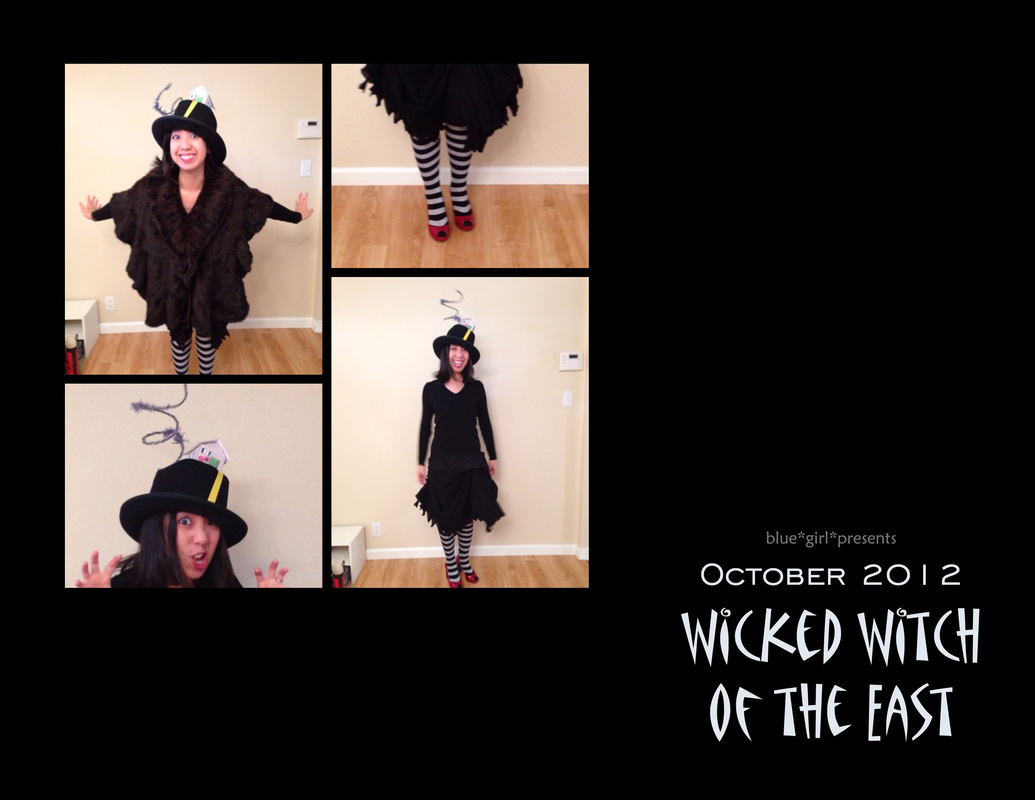 blue girl presents: wicked witch of the east costume