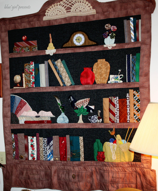 blue girl presents: madge's library quilt
